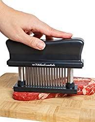 Meat Tenderizer Tool 48 Blades Durable Stainless Steel Meat Tenderizer Black Suitable For Tendering Chicken Pork Steak And Fish White Red Meat Tenderizer For All Kitchens