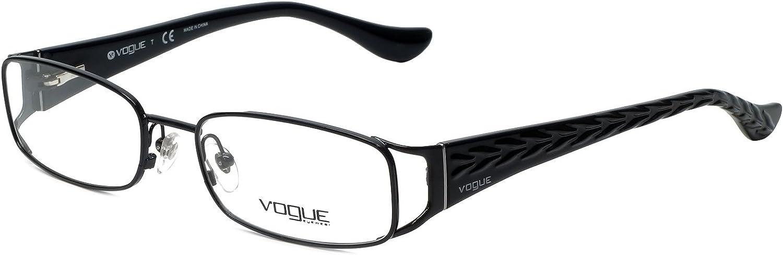 Amazon.com: Vogue Designer Eyeglass Frame VO3910-352 in Black 53mm: Clothing