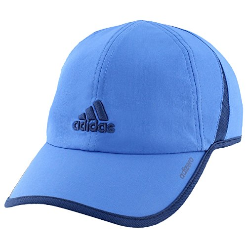 adidas Men's Adizero II Cap, One Size, Blue/Mystery - Stretch Lightweight Cap
