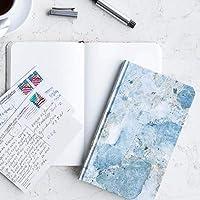 Cuaderno chico mármol azul interior hoja blanca pasta suave