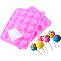 20-Cavity Silicone Candy Mold with Sticks for Hard Candy, Lollipop and Party Cupcake