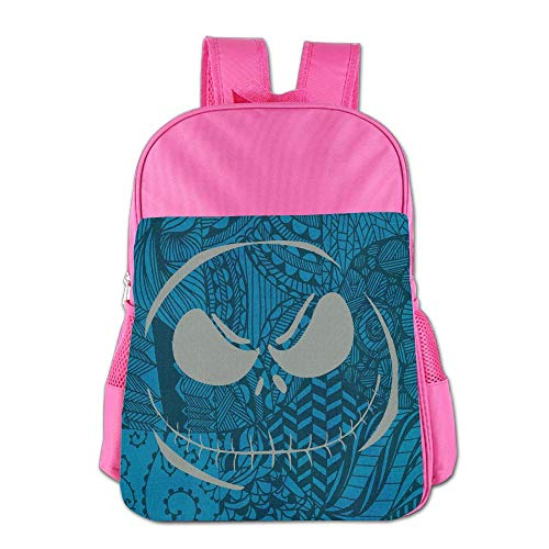 School Children's School Bag Toxic Scary Smiley Face Halloween Horror Style Cute Lightweight Backpack or Travel Bag Pink]()