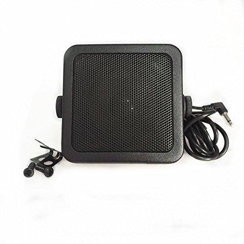 TOPMYS TM-ES608 Mini CB Radio Speaker 8ohm 10W CB Extension Speaker with Swivel Bracket 2m cable 3.5mm Mono Plug For Truck or Taxi CB Speaker by TOPMYS