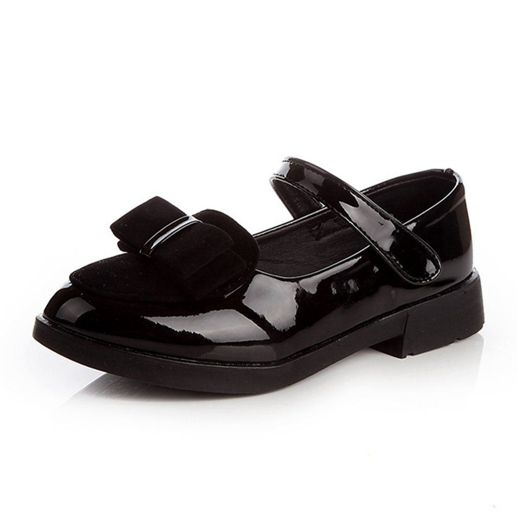 Kids Dress Shoes Girls Low Heel Bow Accent Mary Janes (Toddler/Little Kid/Big Kid)