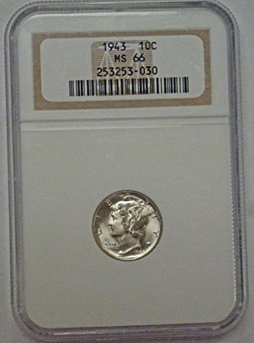 1943 Mercury Dime MS66 NGC