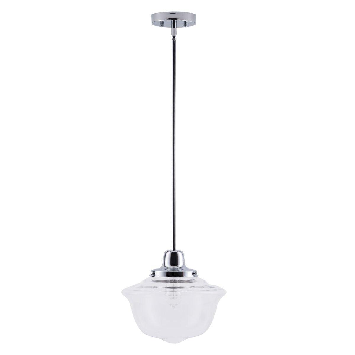 Lavagna LED Schoolhouse Pendant - Chrome w/Clear Glass Shade - Linea di Liara LL-P272-PC by Linea di Liara (Image #5)