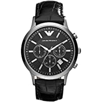 Emporio Armani Men's AR2447 Dress Black Leather Watch
