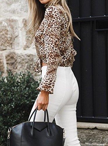 Manches T Tops Shirts Blanc1 Courtes Chemisiers Bandage Fashion Haut Tee Femme Longues Automne Blouse Printemps avec Casual Onlyoustyle Shirts et qSgO1Z