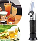 Brix Refractometer for Beer Brewing,Wine Making, Sugar Content Mearsuring,Dual Scale - Specific Gravity 1.000-1.130 and Brix 0-32%,with ATC Function,Beer Wort Refractometer