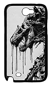 Fit Case with Abstract Painting Bear Printed Hard Back Case Cover for Samsung Galaxy Note 2 N7100