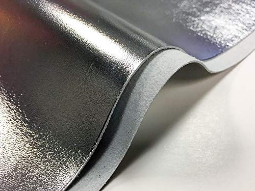 - Genuine Leather Metallic Leather Fabric: 1 Pure Silver Leather Sheet for Leathercrafts-10x10In/25x25cm
