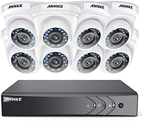 ANNKE 8CH 1080P Lite 8*2MP HD DVR IR CCTV Security Camera System Outdoor Camera