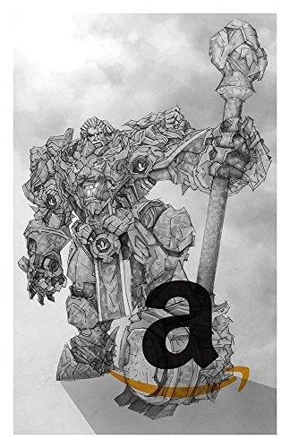 Reinhardt Giclee Print of pencil drawing of Tank Class from Overwatch video game