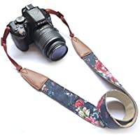Camera Neck Shoulder Belt Strap, Alled Vintage Print Soft Colorful Camera Straps for Women /Men for All DSLR / Nikon / Canon / Sony / Olympus / Samsung / Pentax ETC /Olympus