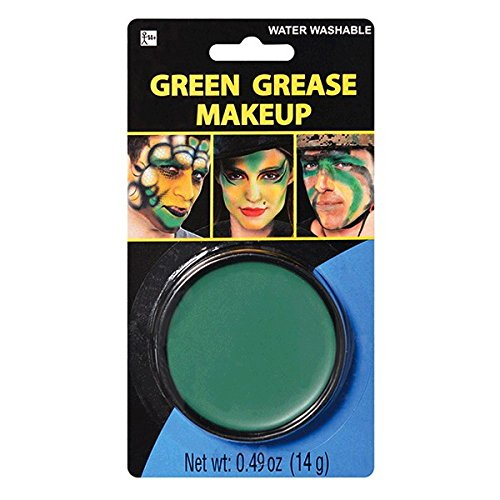 amscan Party Ready Green Face Paint Style Grease Makeup Kit, 0 49 Ounce