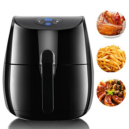 Fashine 3.5L 1350W Electric Air Fryer with Timer and Temperature Controls, Smokeless Low-Fat Non-stick Fryer for Home Kitchen (US Stock) (1350W, 3.5L)