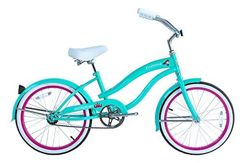 Micargi Famous for Girl - Blue - Beach Cruiser Bike Bicycle, 20'' Wheel