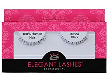 17c6de4b3e9 Amazon.com : Elegant Lashes #052 Black False Eyelashes | Ultra-Short,  Natural 100% Human Hair Under Lashes for Bottom/Lower Lashes : Beauty