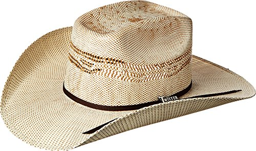 M&F Western Unisex Twister Bangora Cowboy Hat (Little Kids/Big Kids) Tan/Chocolate Hat LG