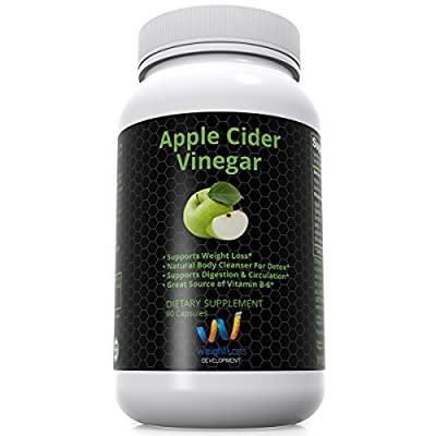 Apple Cider Vinegar Pills Capsules - Natural Cleanse Digestive Detox Weightloss Supplement with Spirulina Lecithin Kelp by Weight Loss Development - 90 capsules