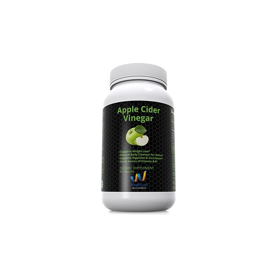 APPLE CIDER VINEGAR Pills Capsules Natural Weight Loss Cleanse Detox Diet Supplement Burn Fat and Clean Your Digestive System Remove Excess Water and Detoxify 90 tablets