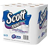 Scott 1000 Sheets Per Roll Toilet Paper, 27 Rolls, Bath Tissue