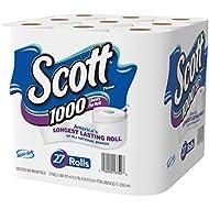 Scott 1000 Sheets Per Roll Toilet Paper, 27 Rolls, Bath...