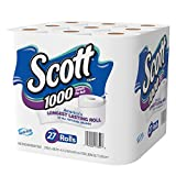 #2: Scott 1000 Sheets Per Roll Toilet Paper, 27 Rolls, Bath Tissue
