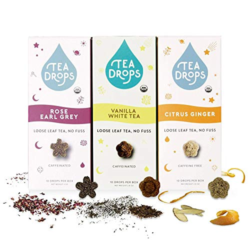 Sweetened Organic Loose Leaf Tea | Assortment 3-Pack Instant Tea Sampler | 30 Bestselling Favorites | Perfect Gift Set for Mothers, Hostesses, Women, Tea Lovers | Delicious Hot or Iced | By Tea Drops