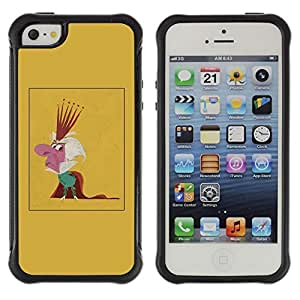 Be-Star Unique Pattern Anti-Skid Hybrid Impact Shockproof Case Cover For Apple iPhone 5 / iPhone 5S ( King Parody Caricature Monarchy Crown Man ) Kimberly Kurzendoerfer