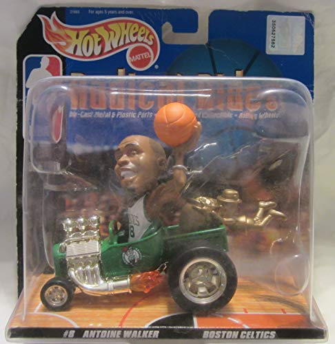 Hot Wheels Radical Rides Boston Celtics #8 Antoine Walker Court Collection Action Figure!