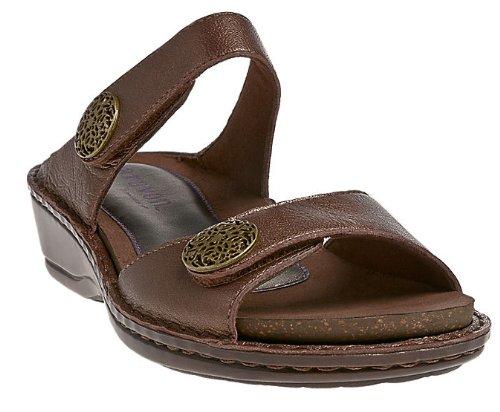 Aravon Women's Charlotte Sandal, Size: 5 Width: 2E Color: Bronze