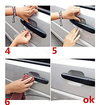 Homeve 5 Accesorios de protección para Mango de Coche para Opel Astra Corsa Adam S Antara Meriva Zafira Insignia Sports GTC Mokka: Amazon.es: Coche y moto