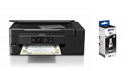 Epson EcoTank ET-2650 - Impresora multifunción (de inyección, 4 botellas de tinta individuales de color) negro + Cartucho Negro