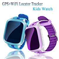 TKSTAR Gps Tracker Smart Watch Phone Two-way Call for Girls Boys with SIM Slot SOS Call Pedometer Anti-lost Alarm Remote Monitor GPS/LBS Locator Smart Bracelet Watch Support Android IOS DS18 from JUNEO