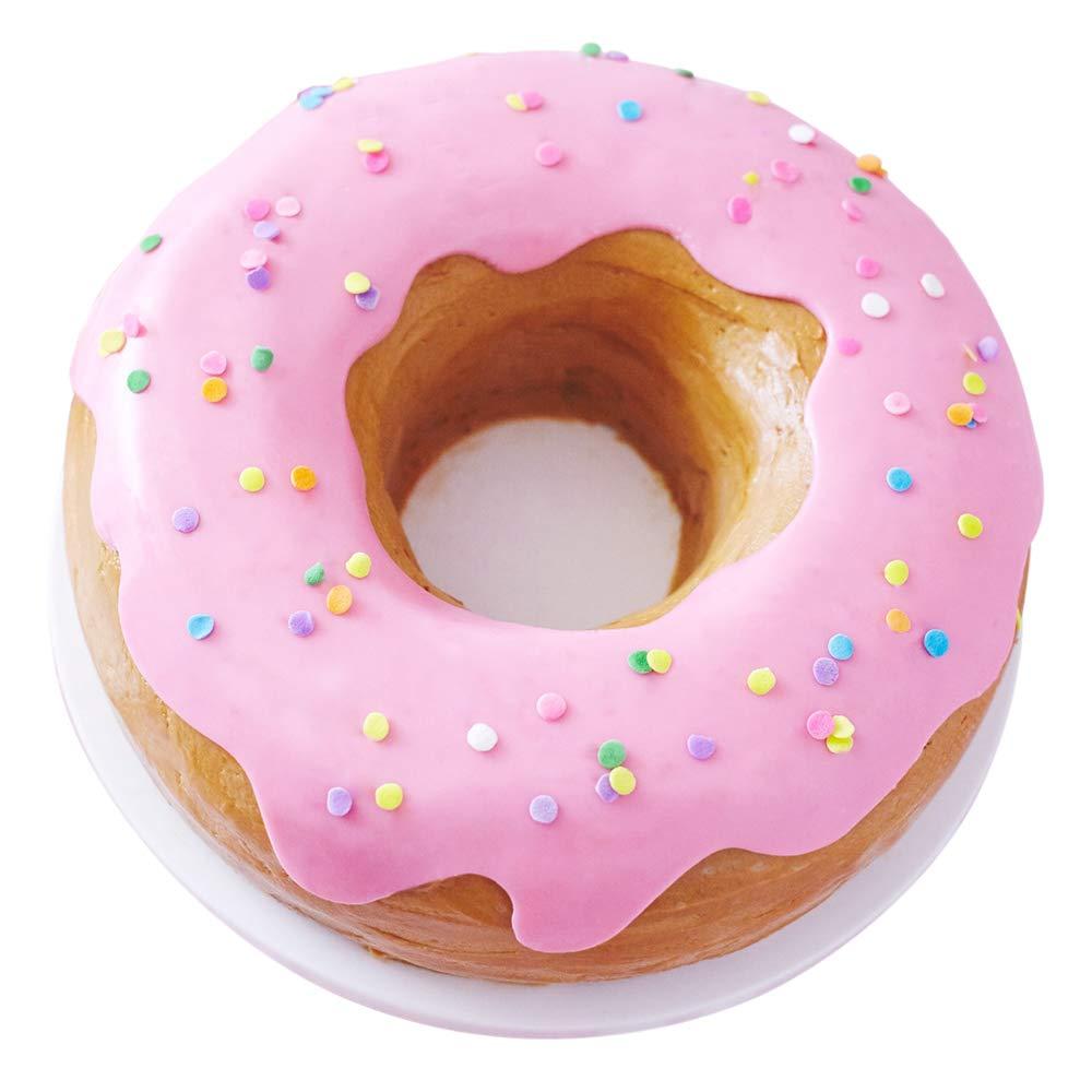 Cakegirls Giant Donut Cake Pan Kit - Includes 10'' Donut Pan, Pink Fondant, Pastel Confetti Quin Sprinkles, Instructions by Cakegirls (Image #1)
