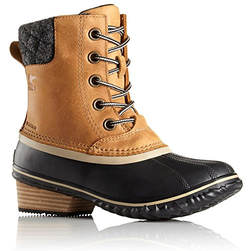Sorel Women's Slimpack Lace II Snow Boot, Elk, Black, 7 B(M) US by SOREL