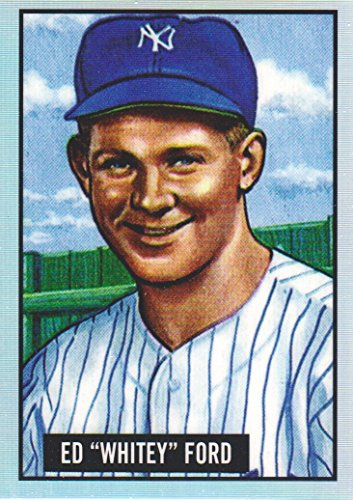 Whitey Ford Baseball Card (2017 Bowman Chrome Baseball '51 Refractors #1 Whitey Ford New York Yankees)