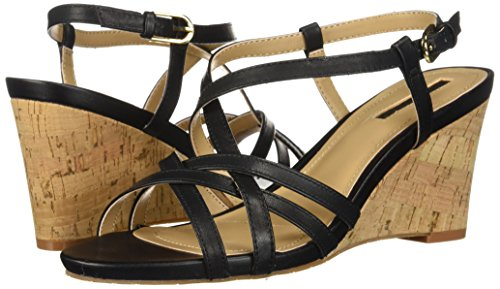 Sandal Ta Black future Tahari Wedge Women's S5xqnEIOX