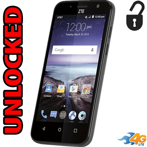 Zte Maven Unlocked GSM 4g Lte Quad Core Z812 5mp Flash 8gb Lollipop
