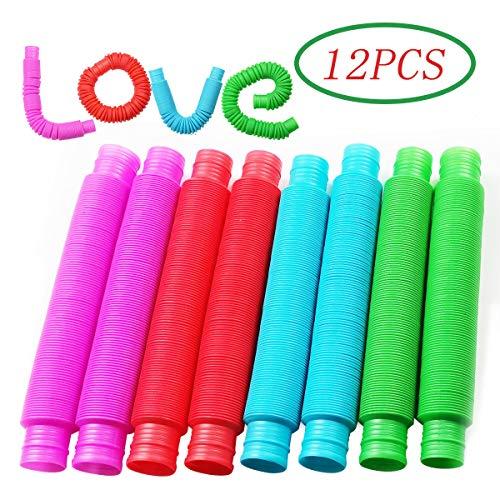 [해외]Pop Multi-Color Tubes (Toobs) Sensory Toy - 12 Pack / Pop Multi-Color Tubes (Toobs) Sensory Toy - 12 Pack