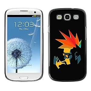 Paccase / SLIM PC / Aliminium Casa Carcasa Funda Case Cover para - Punk Smoker Retro - Samsung Galaxy S3 I9300