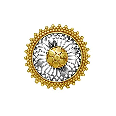 Jaipur Mart Indian Bollywood Handmade Flower Inspired Oxidised Dual Tone Ring - Dual Tone