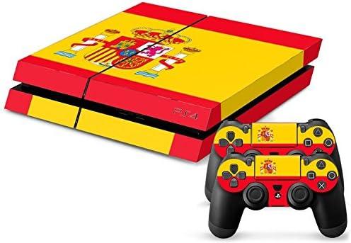 Sony PS4 Playstation 4 Skin Design Foils Pegatina Set - Spain Motivo: Amazon.es: Videojuegos
