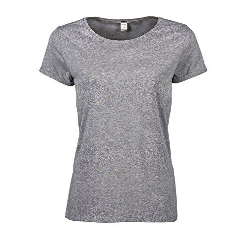 Tee Jays - Camiseta de manga corta modelo Roll para mujer Gris