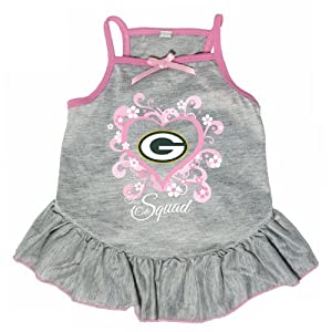 Green Bay Packers Pink Pet Dog Too Cute Squad Dress LARGE