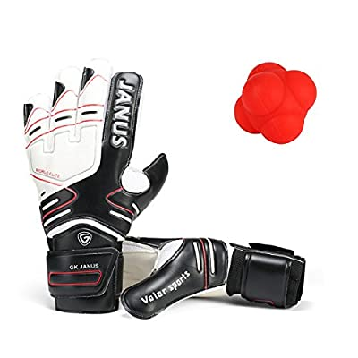 Goalkeeper Gloves with Finger Splines Finger Protection, Youth and Adult, with Free Reaction Ball