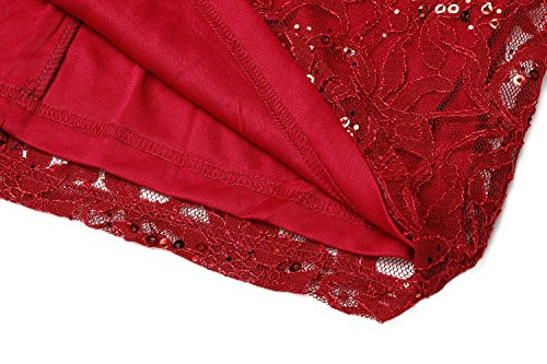 Crayon Acevog À Femme Fleurs Rouge Robe 4wvqwp5
