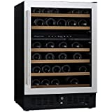 NFINITY PRO S Dual Zone Wine Cellar Stainless Steel Door, Holds 46 Bottles