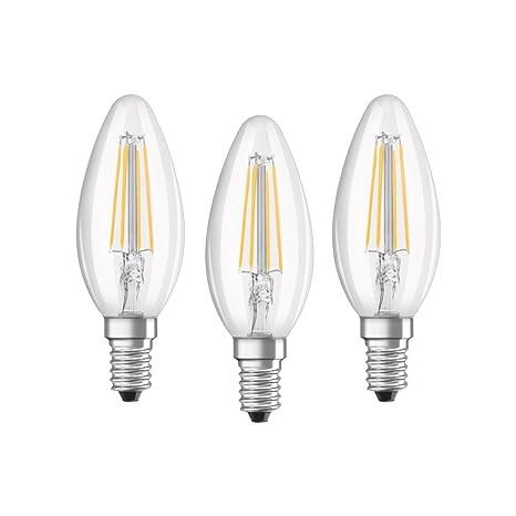 Osram 819313 Bombilla LED E14, 4 W, Blanco, 3 Unidades
